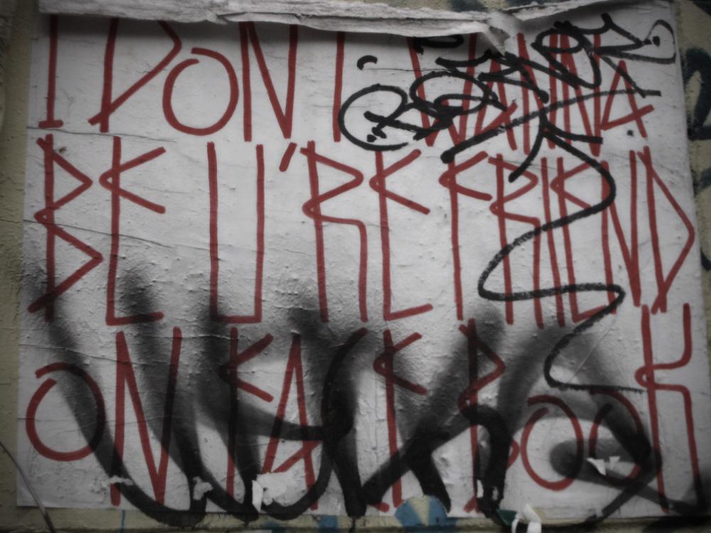 facebook friend graffiti