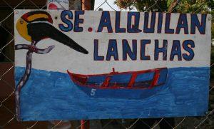 Se Alquilan Lanchas sign